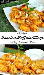 lighter boneless buffalo wings with
