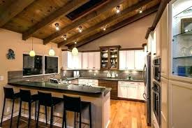 sloped ceiling kitchen lighting