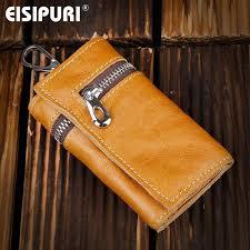 genuine leather purse zipper key