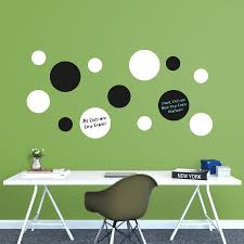 Dry Erase Black White Message Dots Large Removable Wall Decals Wall Decal Shop Fathead For Dry Erase Whiteboards
