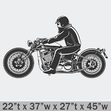 Harley Davidson Chopper Premium Wall Decal Boss Moto Clothing Llc