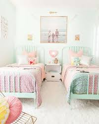 10 Shared Kids Bedrooms Your Little Ones Will Love Shared Girls Room Kids Shared Bedroom Pastel Girls Room
