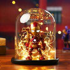 S Orange Diy Creative Avengers Night Light Iron Man War Machine Kids Room Bedroom Lamp Decorative Lighting Voice Control Gifts Led Night Lights Aliexpress