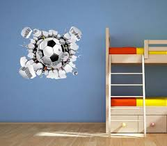Sport Wall Decal Soccer Gift Soccer Ball Wall Decal 3d Etsy Sports Wall Decals Soccer Wall Art Childrens Wall Decals