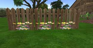 Second Life Marketplace Picket Fence Tulips And Daffodils