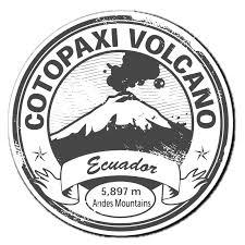 2 X Glossy Vinyl Stickers Cotopaxi Volcano Ecuador Car Ipad Laptop Decal 4036 Cotopaxi Volcano Print Vinyl Stickers Volcano