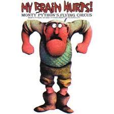 Monty Python Gumbies My Brain Hurts Sticker Walmart Com Walmart Com