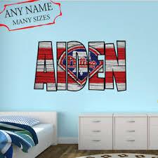 Philadelphia Phillies Wall Decal Art Custom Name Sticker Baseball Mural Nl44 Ebay