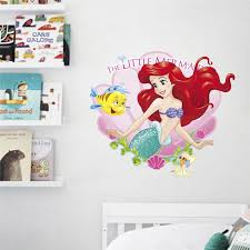 Little Mermaid Ariel Princess Wall Stickers For Bathroom Home Decoration 3d Pvc Poster Kids Room Wall Art Decals Wall Stickers Aliexpress