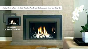 gas fireplace to glass rocks insert