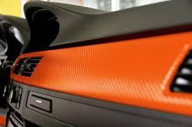 Vvivid Orange Carbon Fiber Vinyl Decal 5ft X 1ft Car Wrap With Air Release