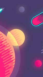 720x1280 planet graphics minimalism