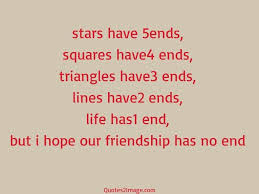 friendship has no end friendship quotes image