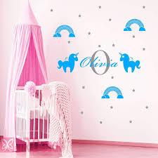Girls Name Unicorn Rainbow Wall Sticker Girls Bedroom Wall Art