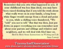 """quote by anne lamott """"remember that you own what happened to you"""