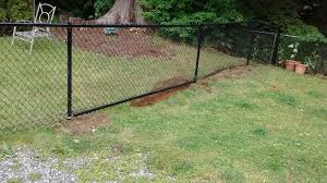 Black Vinyl Chain Link Fence 4 Ft Tall Industrial Exterior Seattle By Discount Fence