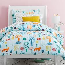 organic woodland colorful duvet cover