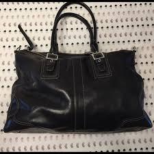 coach bags black leather purse