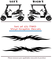 Golf Cart Vinyl Graphic Decals F062 Set Of 2 Shop Vinyl Design