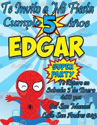 Invitacion Para Fiestas Infantiles Spiderman 80 00 En Mercado