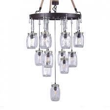 clear glass bottle pendant light