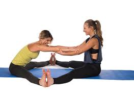 try these 2 person yoga poses