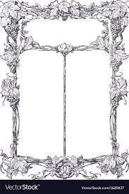 menu frame royalty free vector image