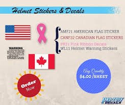 American Flag Warning Labels Ribbons Canadian Flag Decals Hockey American Flag Sticker Canadian Flag Flag Decal