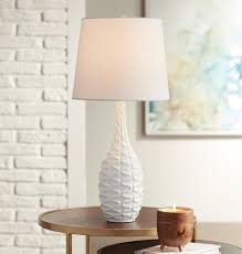Addie White Accent Droplet Table Lamp | Table lamp, Drum shade ...