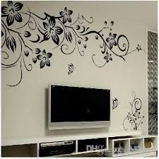 027s 80 100cm Black Flower Vine Wall Stickers Home Decor Large Paper Flowers Living Room Bedroom Wall Decor Sticker On The Wallpaper Wall Decals Tree Wall Decals Uk From Bestdeal 1 41 Dhgate Com