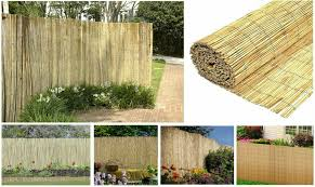 Natural Peeled Reed Fence Garden Privacy Screen Wall Fencing Panel Roll 4m Long Ebay