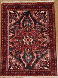 persian heriz tribal hand knotted wool