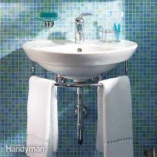 installing a bathroom sink wall hung