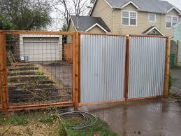 installing corrugated metal fence