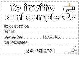 Invitaciones De Cumpleanos Para Ninos Para Imprimir Y Colorear