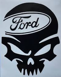 Color Size Choice Skull Ford Vinyl Decal Sticker Truck Bumper Car Window Ebay