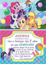 Invitacion My Little Pony Invitaciones My Little Pony