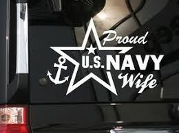 Proud Wife Us Navy Vinyl Car Decal Sticker 7 W With Star Ebay
