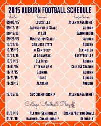 2015 Auburn Football Schedule