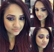 red and black smokey eye makeup tutorial