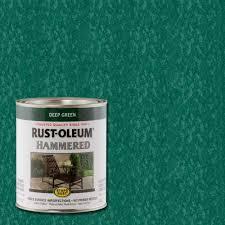 Rust Oleum Stops Rust 1 Qt Deep Green Hammered Rust Preventive Paint 2 Pack 7211502 The Home Depot