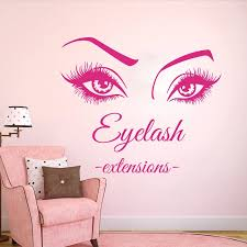 Large Eye Eyelashes Extensions Wall Window Decal Lash Brows Eyelashes Extensions Beauty Salon Wall Window Sticker Vinyl Art Wall Stickers Aliexpress