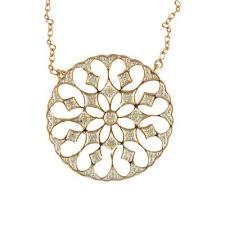 9ct gold diamond pendant necklace