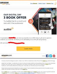 i just got a 500 amazon gift card from