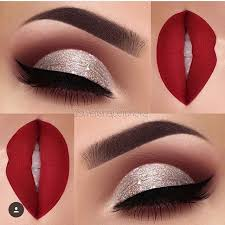 what eye makeup goes with a red dress
