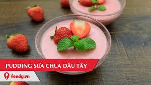 Hướng dẫn cách làm pudding sữa chua dâu tây mát lạnh - Stawberry ...