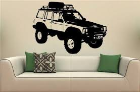 Jeep Cherokee Car Wall Art Sticker Decal By Uniquedecorideas Wall Mural Decals Jeep Cherokee Vinyl Decal Stickers