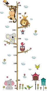 Cartoon Animals Wall Sticker Kids Height Measuring Wallpaper Baby Children Room Wall Decal Decorations Removable Wall Stickers Price In Saudi Arabia Souq Saudi Arabia Kanbkam