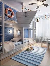 Same Concept But Woodsy With A Deer Stand Kids Nautical Room Cool Kids Rooms Awesome Bedrooms