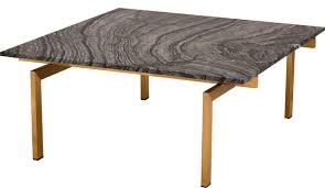 louve square coffee table black marble